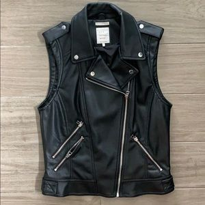 ZARA TRF Leather Biker Vest
